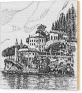 Lago Di Como-lenno - Vila Del Bilbianello Wood Print