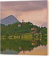 Lago Di Muzzano Mystique Wood Print