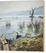 Lago Lull Wood Print