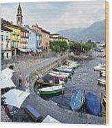 Lago Maggiore Ascona Wood Print