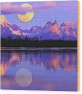 Lago Pehoe In Torres Del Paine Chile Crayons Wood Print