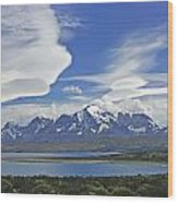 Lago Sarmiento And The Paine Massif Wood Print