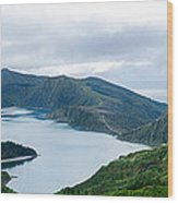 Lagoa Do Fogo Panoramic View Wood Print