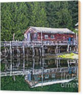Lagoon Cove Wood Print by Robert Bales