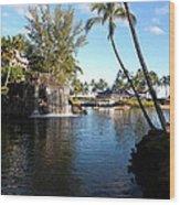 Lagoon Of Hilton Waikoloa Wood Print