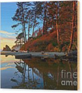 Lagoon Sunrise 1 Wood Print