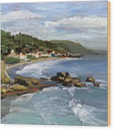 Laguna Beach Wood Print by Alice Leggett