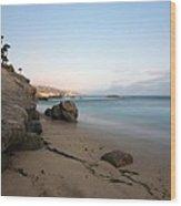Laguna Beach Coast Wood Print