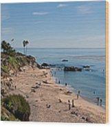 Laguna Beach Cove Wood Print