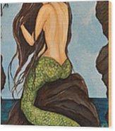 Laguna Beach Mermaid Marina Wood Print