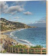 Laguna Beach Shoreline Wood Print by Eddie Yerkish