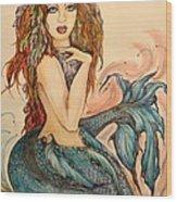 Laguna Blue Wood Print