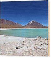 Laguna Verde Bolivia Wood Print