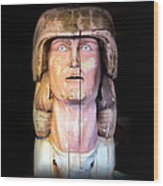 Lahaina Statue 1 Wood Print