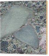 Lahar Deposit Rock Sample Wood Print