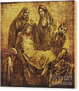 Laid_in_the_tomb Via Dolorosa 14 Wood Print by Lianne Schneider