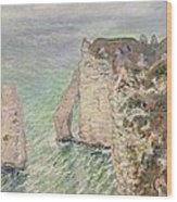 Laiguille And The Porte Daval   Etretat Wood Print