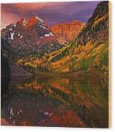 Lake 4 Wood Print