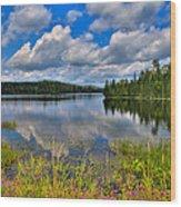 Lake Abanakee In Indian Lake New York Wood Print by David Patterson