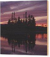 Lake Adirondack Wood Print