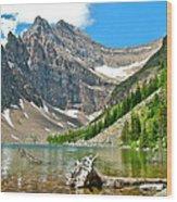 Lake Agnes In Banff Np-alberta Wood Print