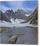 Lake Agnes Wood Print