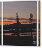Lake Almanor Sunset Triptych Wood Print