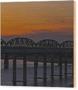 Lake Amistad Sunset Wood Print