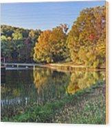Lake At Chilhowee Wood Print by Debra and Dave Vanderlaan