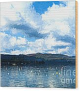 Lake Background Wood Print