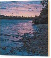 Lake Bailey Sunset Wood Print