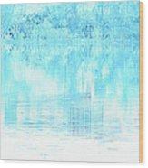 Lake Blue Wood Print