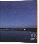 Lake Cascade Idaho By Night Wood Print