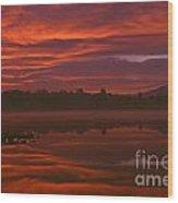 Lake Cassidy Draatic Sunrise Wood Print