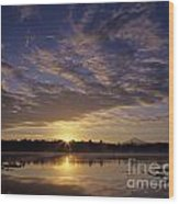 Lake Cassidy With Mount Pilchuck Wood Print