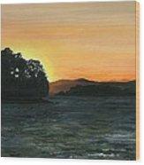 Lake Champlain Adirondack Mountains Vt/ny Wood Print