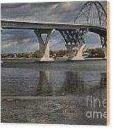 Lake Champlain Bridge Wood Print