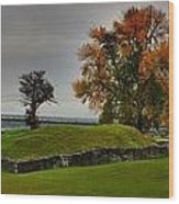 Lake Champlain Crown Point Panorama Wood Print