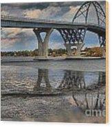 Lake Champlain New Bridge Wood Print