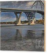 Lake Champlain Tied Arch Bridge Wood Print