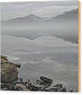 Lake Chatuge Mirror Image Wood Print