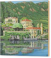 Lake Como Morning Wood Print
