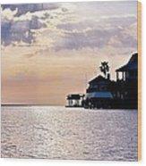 Lake Como On The Gulf Coast Sunset Wood Print