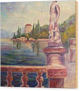 Lake Como View Wood Print
