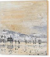 Lake Constance In Winter Wood Print