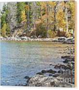 Lake Cove Wood Print