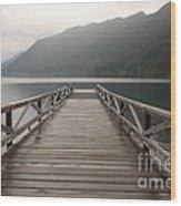 Lake Crescent Dock Wood Print
