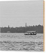 Lake Crossing Wood Print