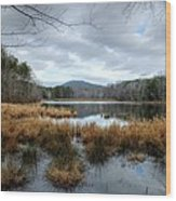 Lake Crowders Mountain Wood Print
