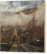 Lake District Rainbow Wood Print
